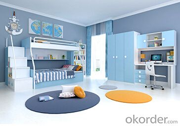 Hot Selling Children Wooden Single Bed with Night Stands WB08