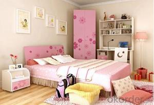 Hot Selling Children Wooden Single Bed with Night Stands WB06