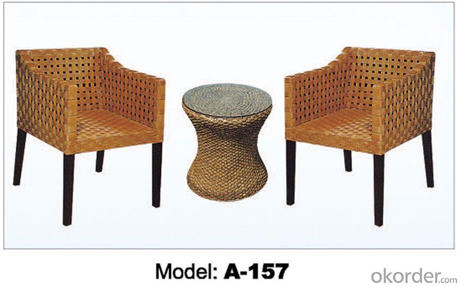 Hot sale Leisure garden Rattan Outdoor furniture (2+1)  A-157