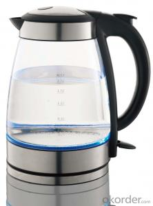 1.7 Litre Glass Electric Kettle with Boil-dry and overheat protection