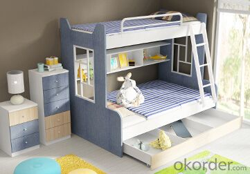 Hot Selling Children Wooden Bunk Bed with Night Stands WB16
