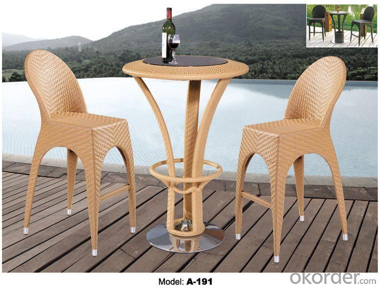 Hot sale Leisure Bar Set Rattan Outdoor furniture   A-191