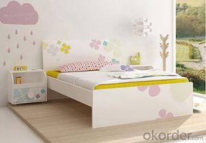Hot Selling Children Wooden Single Bed with Night Stands WB05