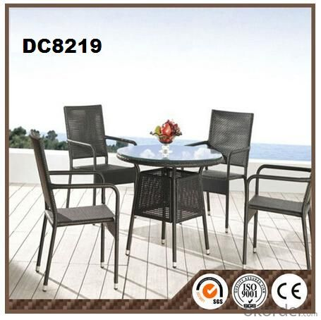 5pcs Aluminum Rattan Garden Furniture DC8219