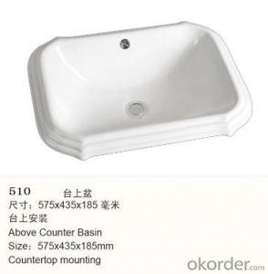 counter basin for wash hand with the ceramic basin  - 510