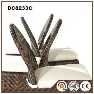 Outdoor Modern Dining Chair Rattan Armrest Aluminum chair DC8233C