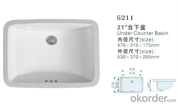 Under counter basin for wash hand with the ceramic basin  - 5211