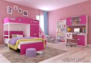 Hot Selling Children Wooden Single Bed with Night Stands WB10
