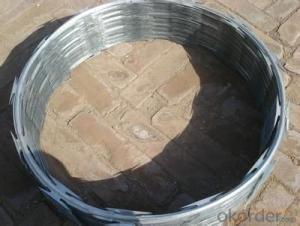 Galvanized Razor Barbed  Wire With Hot Dipped Galvanized  Wire