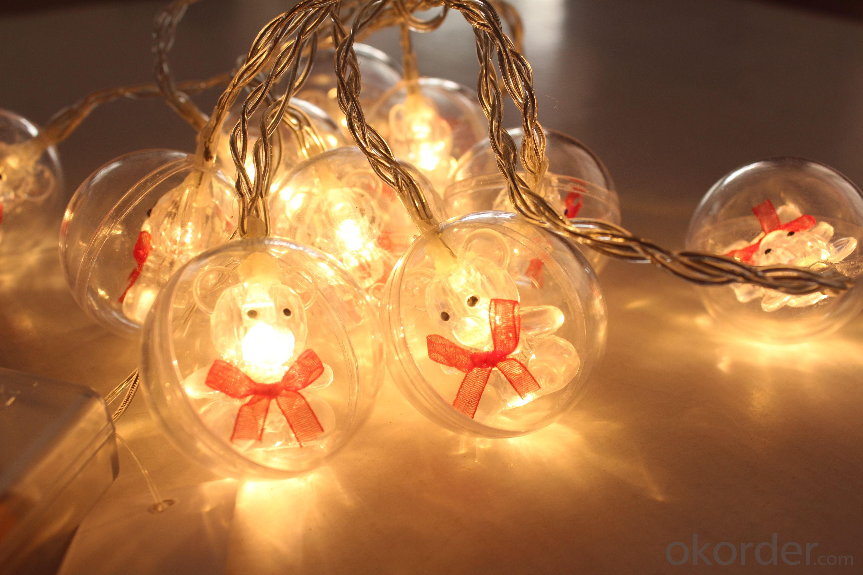 Battery Light String with Christmas Ornament