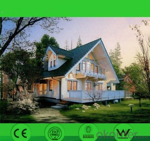 Steel Prefabricated House Light Steel Villa Two Floors Aspahalt Tile Roof