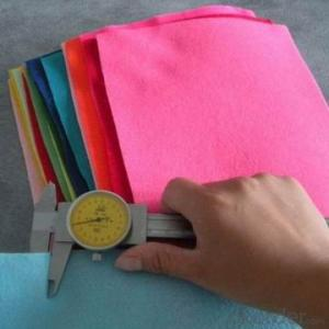 100% pure color craft wool felt with high quality /craft colorful wool felt