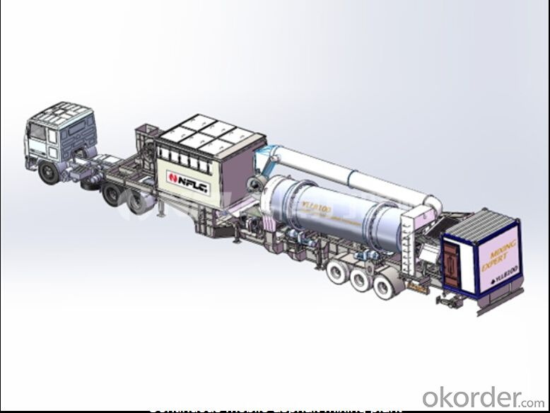 Continuous mobile asphalt mixing plant,convenient transportation and little downtime