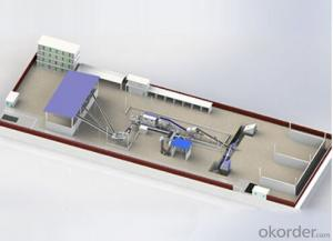 Construction waste sorting and crushing production line
