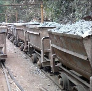 Zhongmei brand Single-side Curved Rail Dumping Mine Car