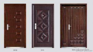High Quality Steel Wooden Armored Door Series