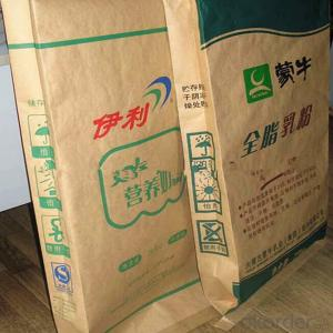 25kg high quality Pp kraft paper valve bag for packing food