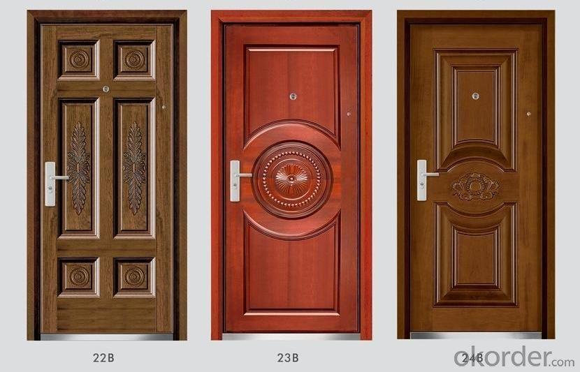 Standard Steel Wooden Armored Doors for Buildings