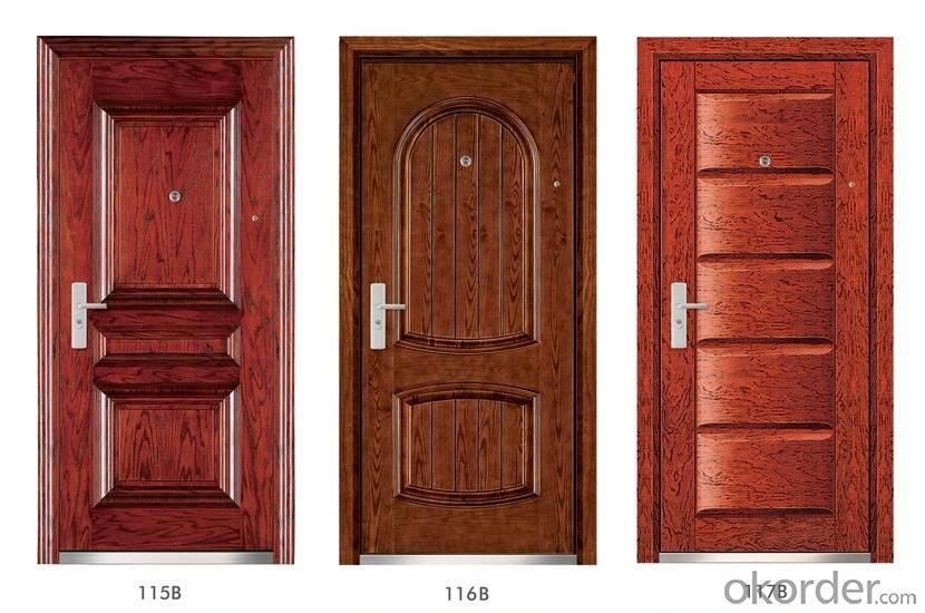 Steel Wooden Armored Doors with Good Quality
