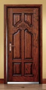 Steel Wooden Armored Doors with Various of Designs