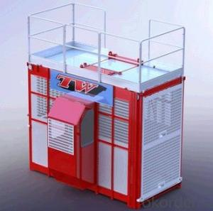 SC150/150G rack and pinion building hoist for cargo and passengers with frequency converter