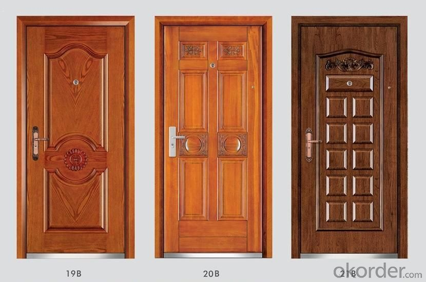 High Quality Steel Wooden Armored Doors for Flats