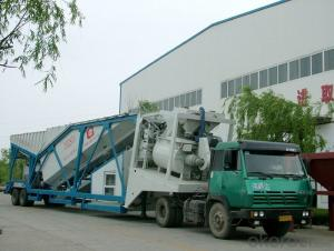 Trail Type Mobile Concrete Batching Plant