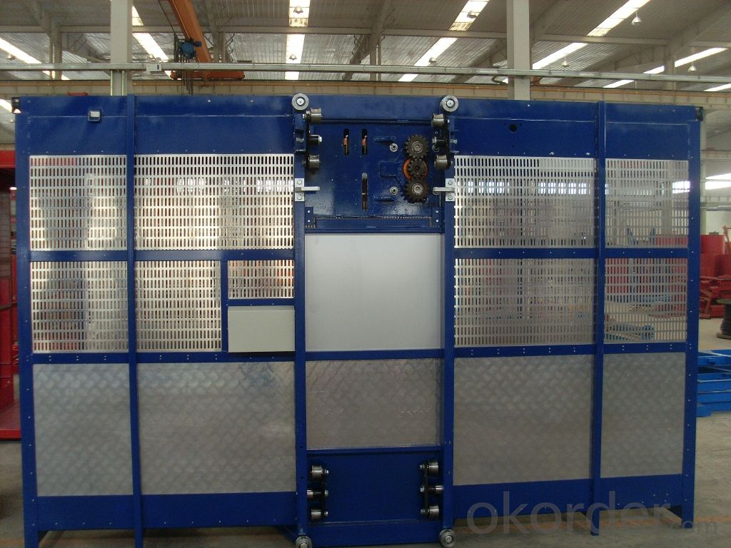 building material hoist 1200kgs one cage with frequency converter building hoist SC120G