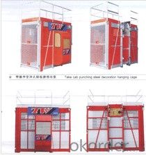 One cage SC100 construction hoist