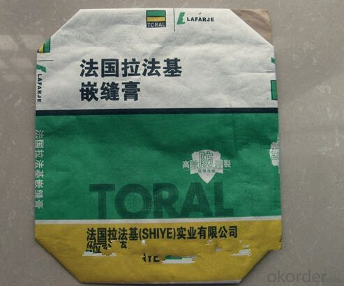 30KG Plastic Laminated Kraft Paper Valve Bag For Cement