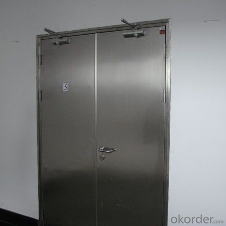 doble leaf steel security anti fire door