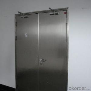 single leaf steel security anti fire door