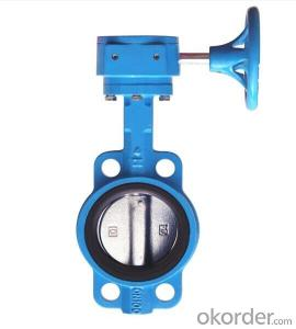 DN400 Turbine Type Butterfly Valve with Hand wheel BS Standard