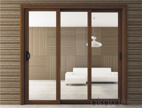 different design wooden glass sliding door