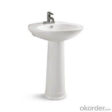 Ceramic sanitary ware modern pedestal basin