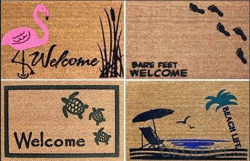 Door Rugs, Made of Natural Maize, Moisture-proof, Environment-friendly, Come in Various Sizes