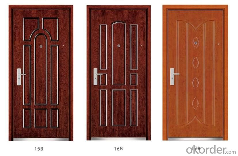 Standard Steel Wooden Armored Doors for Flats