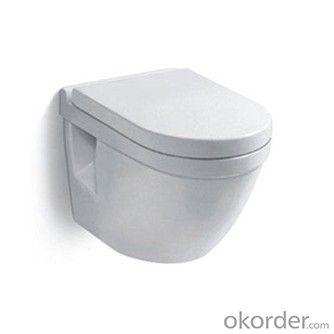 Ceramic tile healthy sanitary wall-hung toilet design