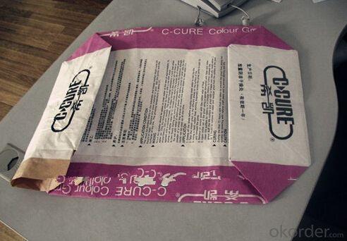 30KG Plastic Laminated Kraft Paper Valve Bag For Cement