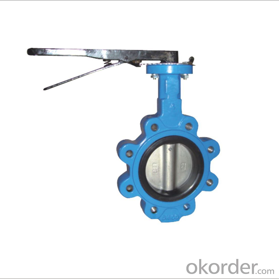 Lug Type Butterfly Valve Without Pin Ductile Iron DN100