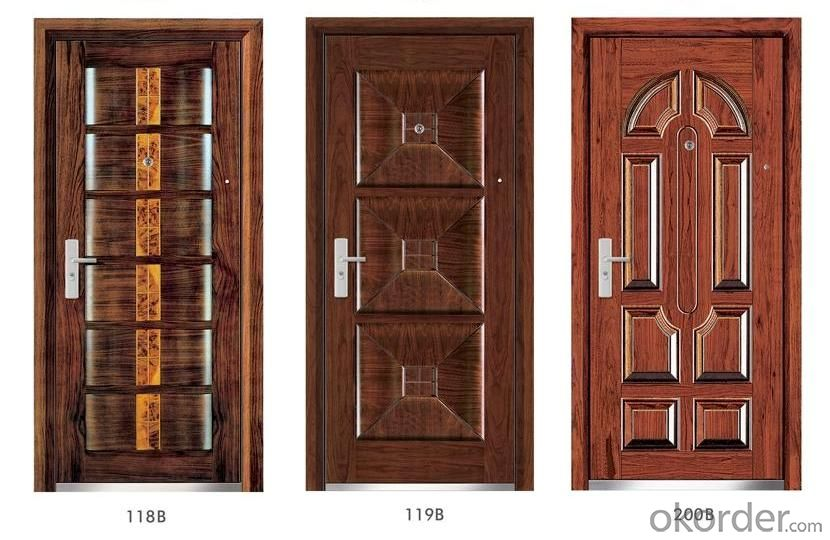 Steel Wooden Armored Doors in Standard Sizes
