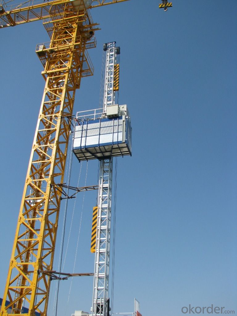 Double cage building lift SC100/100
