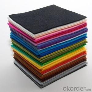 Non woven polyestehandmade wool felt for china