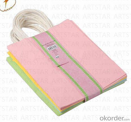 Matte or glossy laminated kraft paper bag for shopping