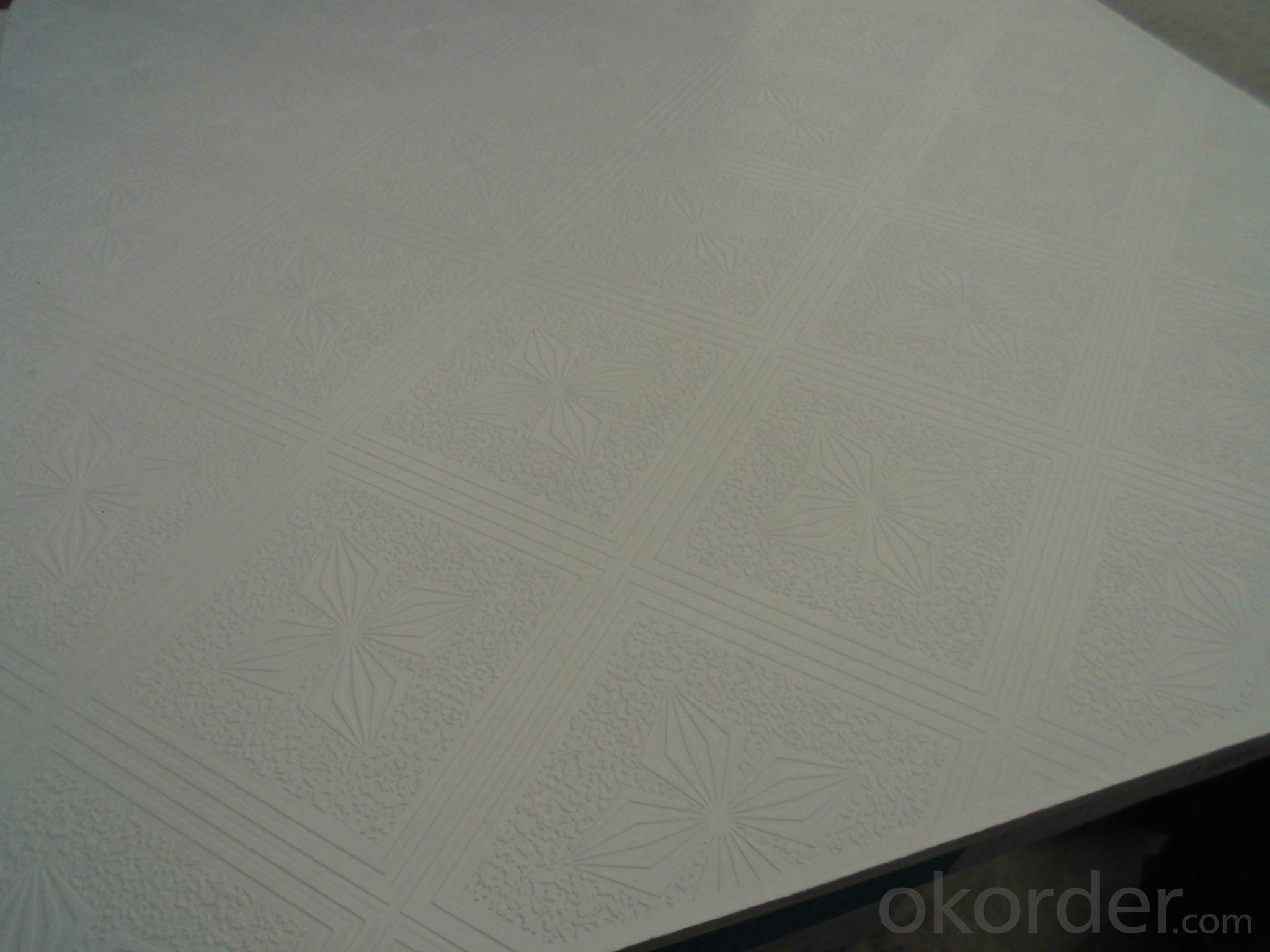 PVC Laminating Gypsum Ceiling Tiles for Decoration
