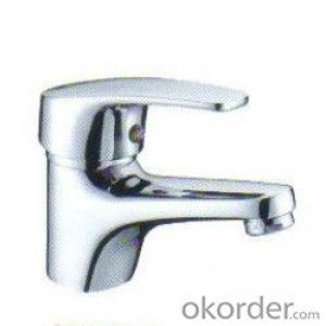 Single hole hot&cold brass basin faucet in China