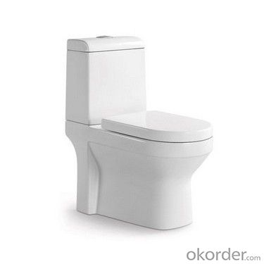 Hot sale! Universal type square shape p-trap two-piece bathroom toilet design MFZ-14C/D
