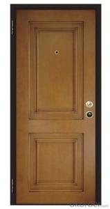 Italy Style Steel Wooden Armored Doors for Buildings