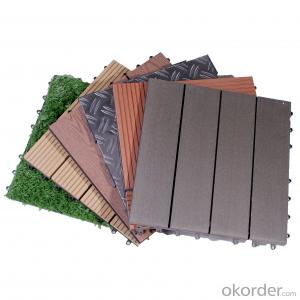 Wood Plastic Composite Tiles for different types