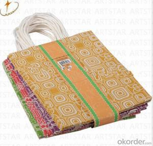 Matte or glossy laminated kraft paper bag for shopping